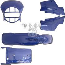 Kit Plástico Conjunto Xl 250r Xlx 250 Azul Paramotos Roupa