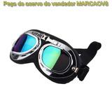 Óculos Goggles Retro Aviador Harley Custom Bobber Cafe Racer