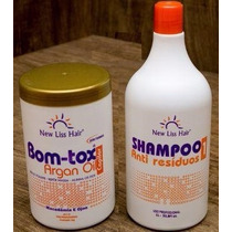 Botox Capilar Argan Oil S/formol 1kg New Liss +shampoo 300ml