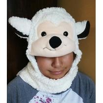 Gorras - Bufanda Abrigadas Para Niños, Animalitos