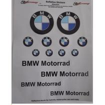 Adesivo Refletivo Moto Capacete Bau Carro Bmw Motorrad 2