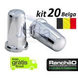 Capa Porca Belga Caminhão Cavalo Kit 20 Unid. 32mm Ou 33mm