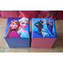 Puff Baú Infantil Personagens Porta Brinquedos Frozen