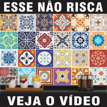 Adesivo Azulejo Imitando Pastilha Ladrilho Português 20x20cm