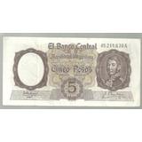 Argentina 5 Pesos Moneda Nacional Bot 1924