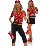 Disfraz Minnie Mouse Adulto Chico 5 Piezas