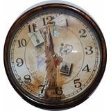 Relógio De Parede Decorado Volta Ao Mundo Sala Escritório