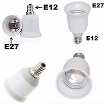 Adaptador Rosca E12 Para E27 ( Externo E12 Interno E27)