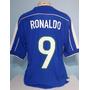 Camisa Do Brasil Azul Copa 1998 França Ronaldo Fenômeno -48