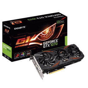 Placa Video Nvidia Gigabyte Geforce Gtx 1070 G1 Gaming 8gb