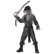 Disfraz De Pirata Fantasma Para Niño Talla Xl