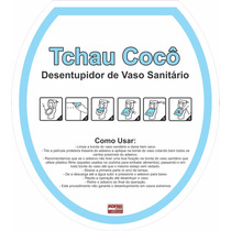 Adesivo Desentupidor De Vaso Sanitário Tchau Cocô