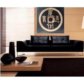 Cuadro Moneda Zen A Mano Grande Relieve Textura Minimalista