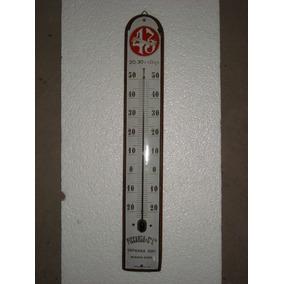 Cartel Antiguo Chapa Enlozada Termometro Cigarrillos 43