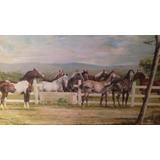 Pintura Tela Cassio Melo Cavalos Catalogado
