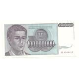 Billete Yugoslavia 100´000,000 Dinara (1993)