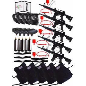 5 Marcadoras Con Equipo Jt Tactical Co2 Gotcha Xtreme