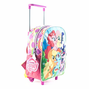 Mochila Con Carro My Little Pony Jardin Lic. Original 12
