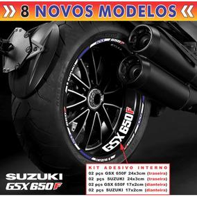 Adesivo Friso Refletivo Suzuki Gsx 650f + Adesivos Interno