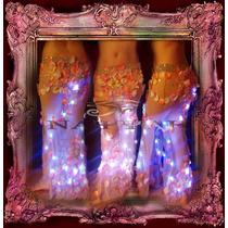 Pollera Luminosa Majesté Fiesta Evento Novedad Danza Arabe