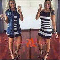 Colete Jeans Comprido Max Desfiado Moda Blogueira Instagram
