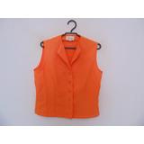 Camisa Feminina Laranja Sem Mangas Cód. 775