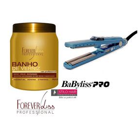 Banhode Verniz+prancha Alisadora Nano Titanium Babyliss Pro.