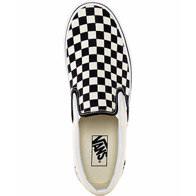 Tenis Vans Classic Slip On Checkerboard Beige / Negro