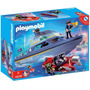 Retromex Playmobil 4429 Bote Policía Con Motor Ciudad