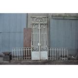 Puerta Zaguan Hierro Ornamentada 100 Años!!