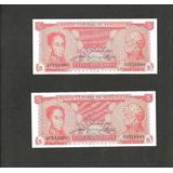 Billete 5 Bolivares 1989 21 De Septiembre U7, Au Correlativo