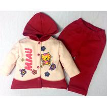 Agasalho Conjunto Infantil Calça E Blusa Moleton Menina