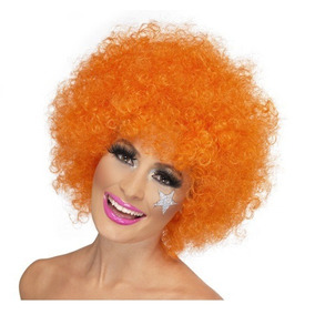 Peluca De Colores Afro Extra Grandes Cosplay
