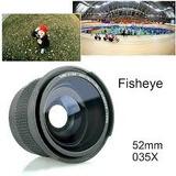Fisheye Ojo De Pez 52mm 0.35x Macro Ultra Gran Angular