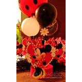 Centros De Mesa Minnie Roja, Mickey Con Globos Cumpleaños