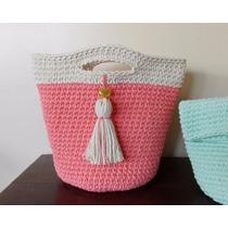 Cartera Tejida A Crochet - Canasta Tejida