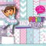 Kit Imprimible Pack Fondos Dora Bailarina Clipart