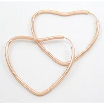 Esfinge Jóias - Brinco Argola Coração Grande Ouro Rosê 18k.