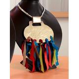 Collar Enchapado En Plata #joyeria Etnica Contemporanea