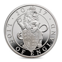 Moeda De Prata 999 Inglaterra - The Lion Of England 2017