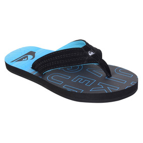 Chinelo Quiksilver Basis Nitro Black Blue