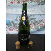 Champagne Moet Nectar Botella Corcho Seguro Vacia Changoosx
