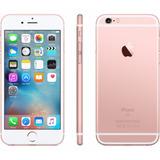 Iphone 6s 16gb Rose Gold/ Rosa Apple + Capa + Pelicula Vidro