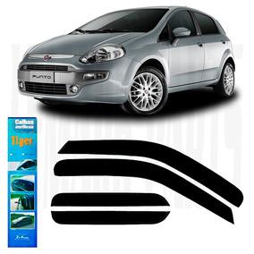 Calha De Chuva Fiat Punto + Friso Lateral Branco Kalahari