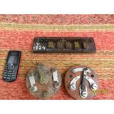 Lote D Antiguo Conmutador Reostato En Madera No Telefono B