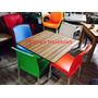 Mesa Restaurante Con 4 Sillas Varios Colores
