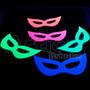 Máscara Fluorescente Brilha Na Luz Negra - Kit 24un