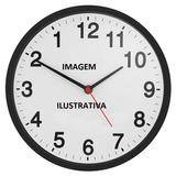 Relógio De Parede Preto Anti-horário Invertido Herweg