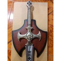 Espada De La Cruz De Hierro Con Calavera Mistica Masonica