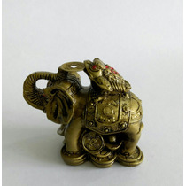Elefante De La Suerte Con Rana De 3 Patas